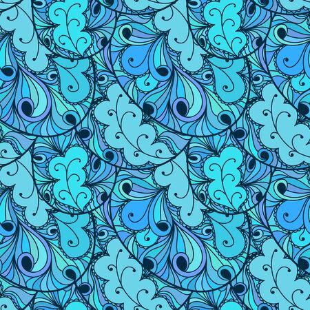 Seamless abstract hand-drawn texture, backdrop Vector