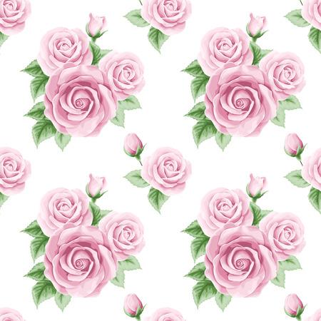 Jahrgang nahtlose Muster mit Rosen. Vektor-Illustration Standard-Bild - 39558615