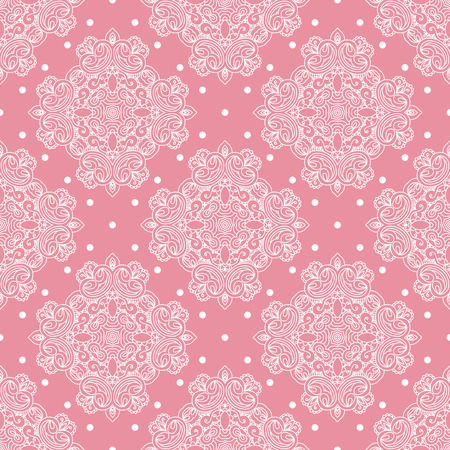 Seamless abstract hand-drawn pattern with lace elements