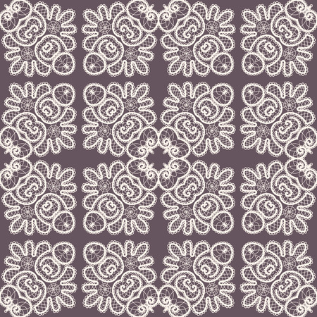 Seamless abstract hand drawn pattern. Vologda lace. Russian style