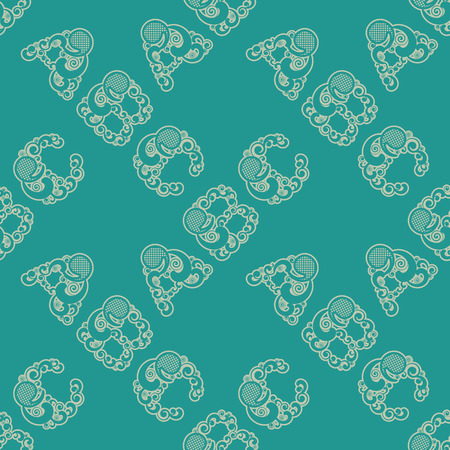 Seamless pattern with letters A B C. Vector illustration