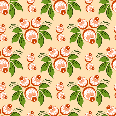 rekodzielo: Seamless russian floral pattern. Russian handicraft. Gorodets painting. Vector illustration Ilustracja
