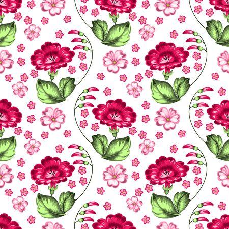 rekodzielo: Seamless russian floral pattern. Russian handicraft. Zhostovo painting. Vector illustration