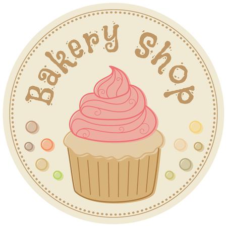 Bäckerei. Hand gezeichnet Vektor-Illustration im Retro-Stil Standard-Bild - 45581789