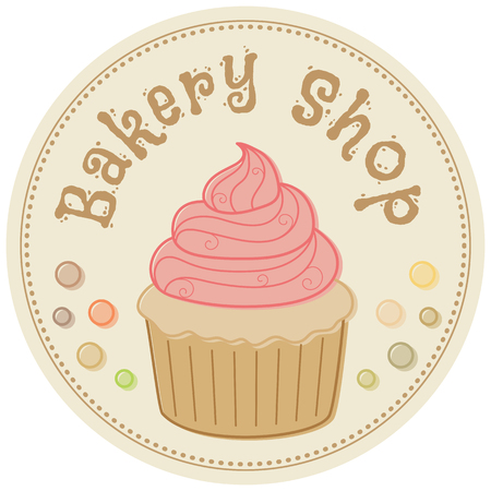 baked goods: Bakery shop. Hand drawn vector illustration in retro style Illustration