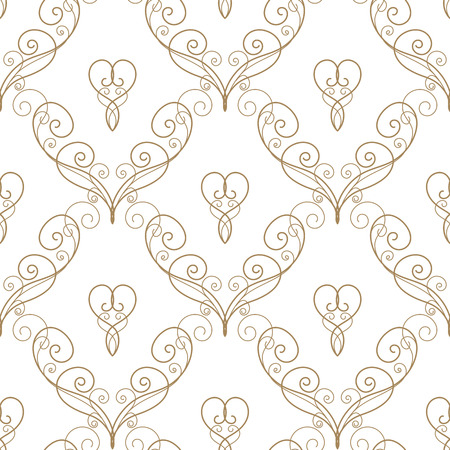 lacework: seamless pattern in retro style. Calligraphy design element