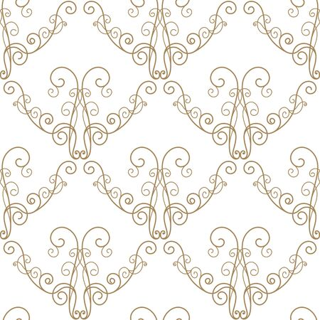 scroll tracery: seamless pattern in retro style. Calligraphy design element