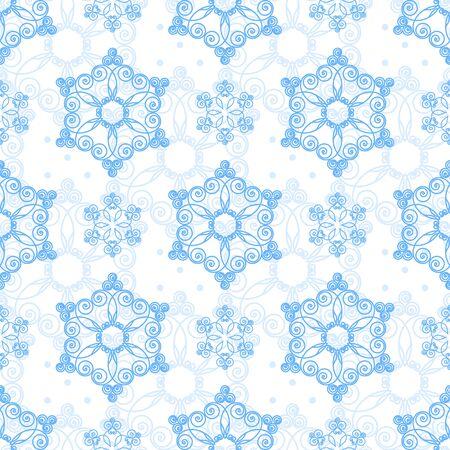copo de nieve: Patrón sin fisuras con los copos de nieve dibujados a mano. Ilustración vectorial Navidad. Plantilla para la tarjeta de felicitación, invitaciones, envoltura