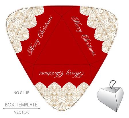 christmas present: Christmas gift box design. Christmas illustration Illustration