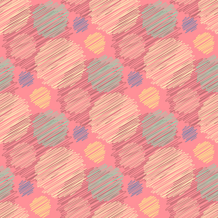 abstract scribble: Seamless geometric pattern. Abstract scribble spots.