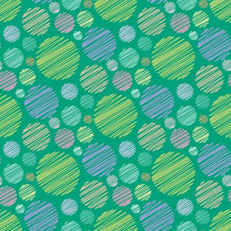 abstract scribble: Seamless geometric pattern. Abstract scribble spots. Vector illustration Illustration