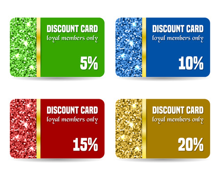 Set of discount card templates. Vector illustration