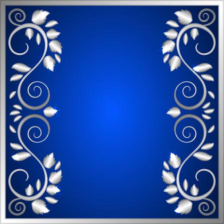Un élégant fond vectoriel avec cadre ornemental floral brillant. Placez votre texte. Vector illustration