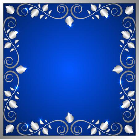 Eine elegante Vektor-Hintergrund mit glänzenden floralen Zierrahmen. Platz für Ihren Text. Vektor-Illustration Standard-Bild - 51804958