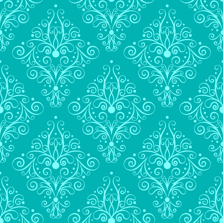 lacework: Hand drawn seamless pattern in retro style. Calligraphy design element. Vector illustration