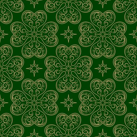Saint Patrick's Day seamless pattern. Vector illustration in retro style