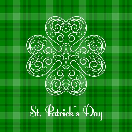 Saint Patricks Day greeting card. Vector illustration in retro style