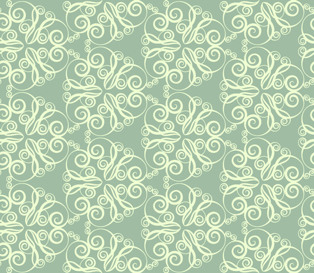 lacework: Abstract seamless pattern in retro style. Calligraphy design element. Vector illustration