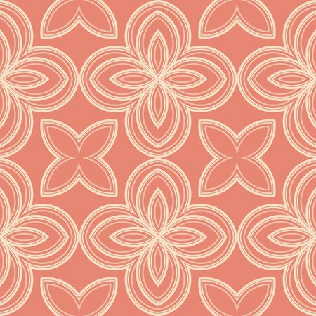 Abstract floral seamless pattern. Ornamental background. Vector illustration Illustration