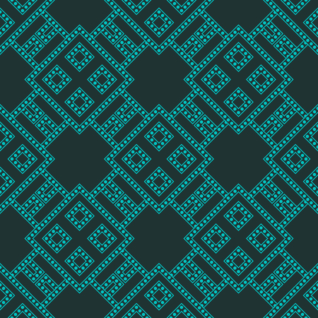 reticulated: Abstract geometric techno pattern. Seamless background. Vector illustration