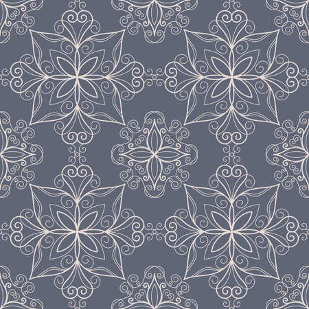 lacework: Ornamental seamless pattern in retro style. Calligraphy design element. Vector illustration
