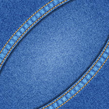 denim: Denim texture background. Realistic denim fabric. Vector illustration