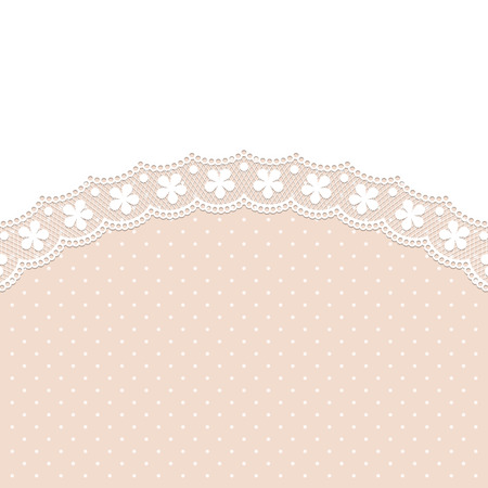 old texture: Retro lace background. Template for wedding invitation or greeting card with lace border. Illustration in retro style. Vector Illustration
