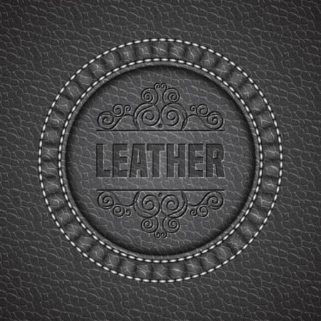 Cuir texture de fond. cuir réaliste. Vector illustration