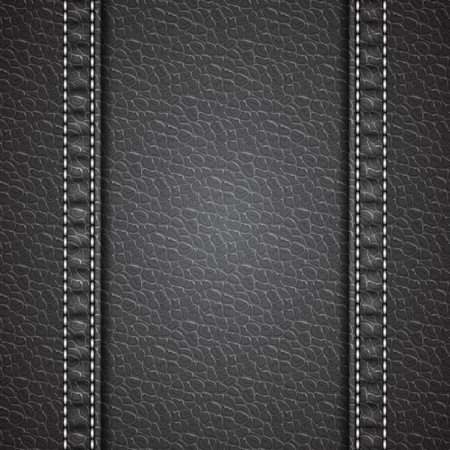 leather stitch: Leather texture background. Realistic leather. Vector illustration