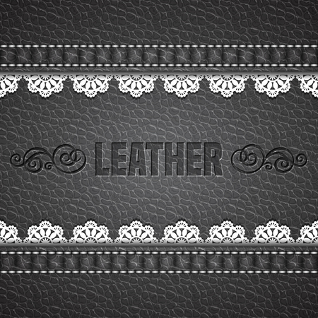 chamois leather: Leather texture background. Realistic leather. Vector illustration