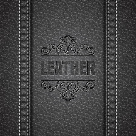 leather texture: Leather texture background. Realistic leather. Vector illustration