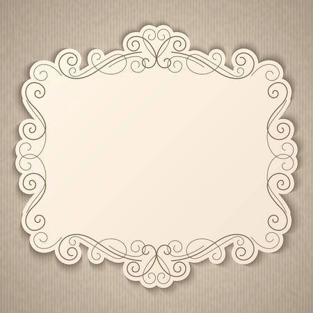 Elegant luxury vintage calligraphy frame. Template for greeting card, invitation, diploma. Vector illustration in retro style Illustration