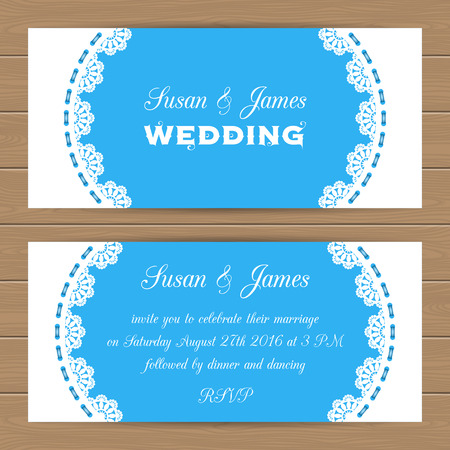 elegant template: Wedding card or invitation template with lacy border. Can use as invitation or announcement. Vector