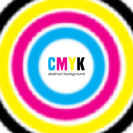 cmyk abstract: Abstract halftone background in CMYK colors. Vector illustration