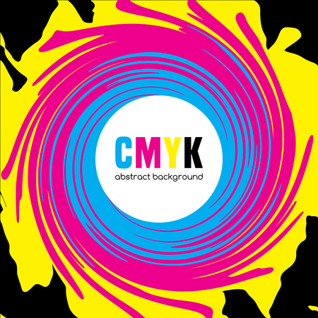 cmyk abstract: Abstract background in CMYK colors. Vector illustration Illustration