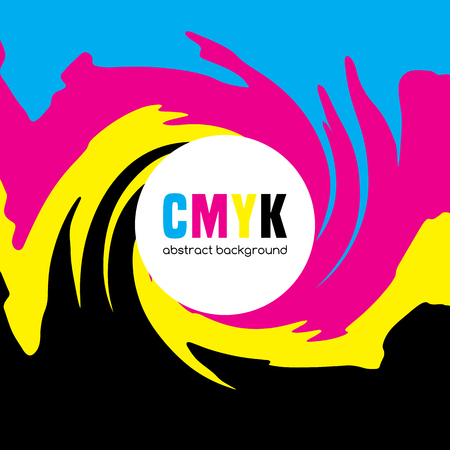Abstract background in CMYK colors. Illustration