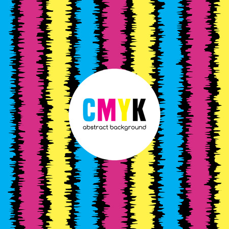 cmyk abstract: Abstract background in CMYK colors. Illustration