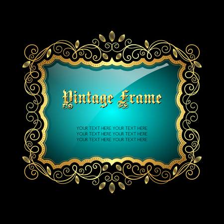 Vintage decorative frame with place for text. Vector illustration