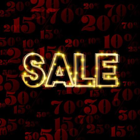 shiny black: Black Friday sale background with shiny golden text. Vector illustration