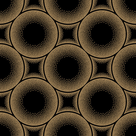 pointillism: Abstract seamless geometric pattern in pointillism style. Vector illustration.