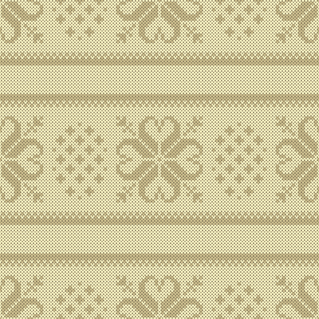 handicrafts: Seamless jacquard knitting pattern. Knitwear texture. Vector Illustration