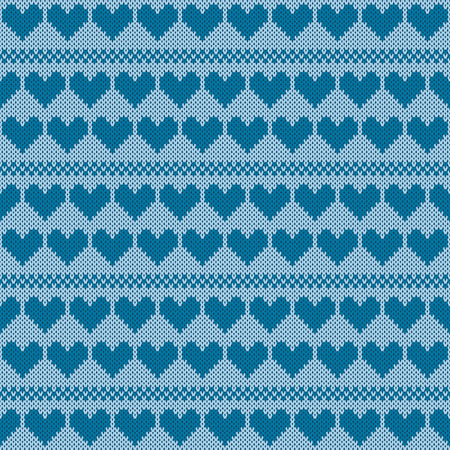 coarse: Seamless jacquard knitting pattern. Knitwear texture. Vector Illustration