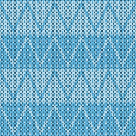 Seamless jacquard knitting pattern. Knitwear texture. Vector Illustration