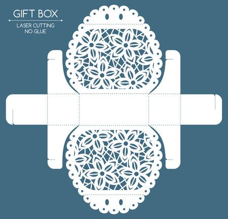 레이스 장식 Openwork 선물 상자입니다. 레이저 절단