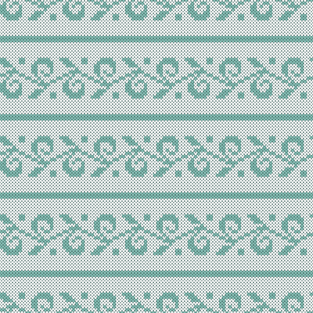 A Seamless jacquard knitting pattern. Knitwear texture. Vector Illustration