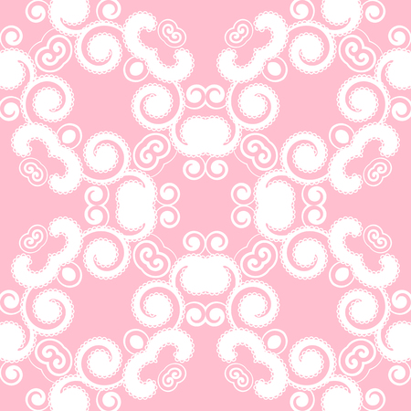 openwork: Abstract seamless pattern with curling elements. Vector Illustration.