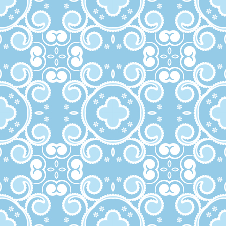 Abstract seamless pattern with curling elements. Vector Illustration.