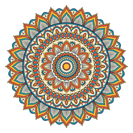 Ethnic ornamental mandala decorative design element. Illustration