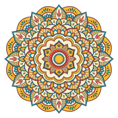Ethnic ornamental mandala Decorative design Hand drawn vector illustration