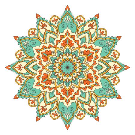 Ethnic ornamental mandala. Decorative design element hand drawn vector illustration Illustration